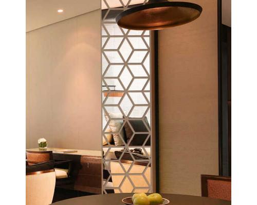 Зеркальное панно узкое для кухни
